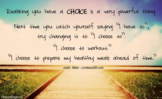 Weight Loss Motivation - Choice