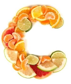 letter c shaped out of citrus fruit