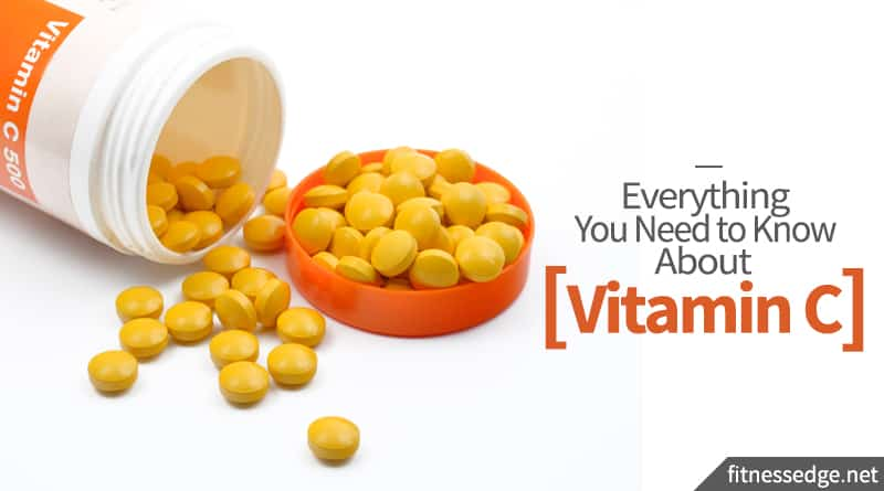 container of vitamin c tablets