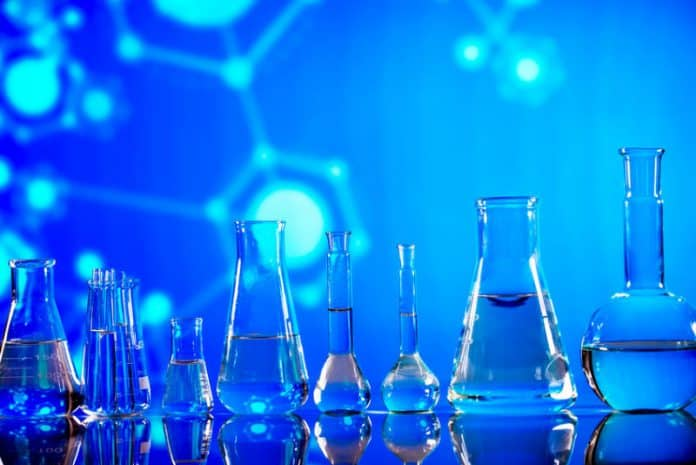 Chemical Combinations in Glass Beakers