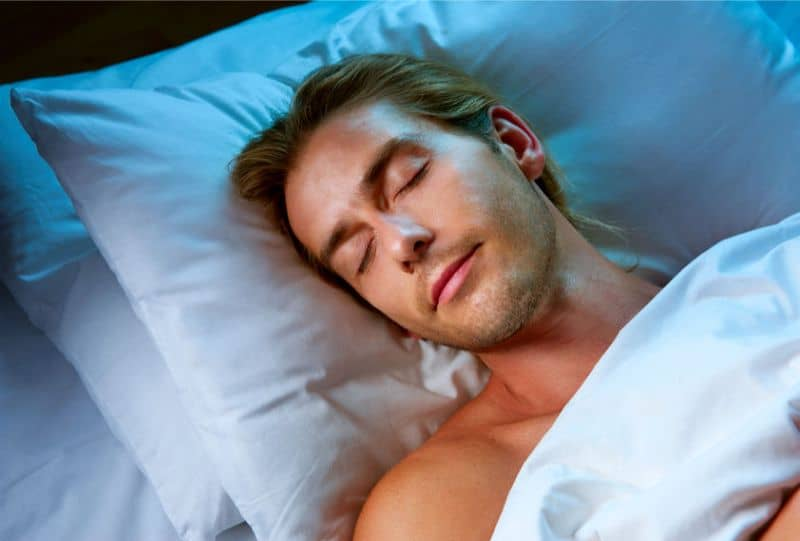 Man Getting Quality Sleep